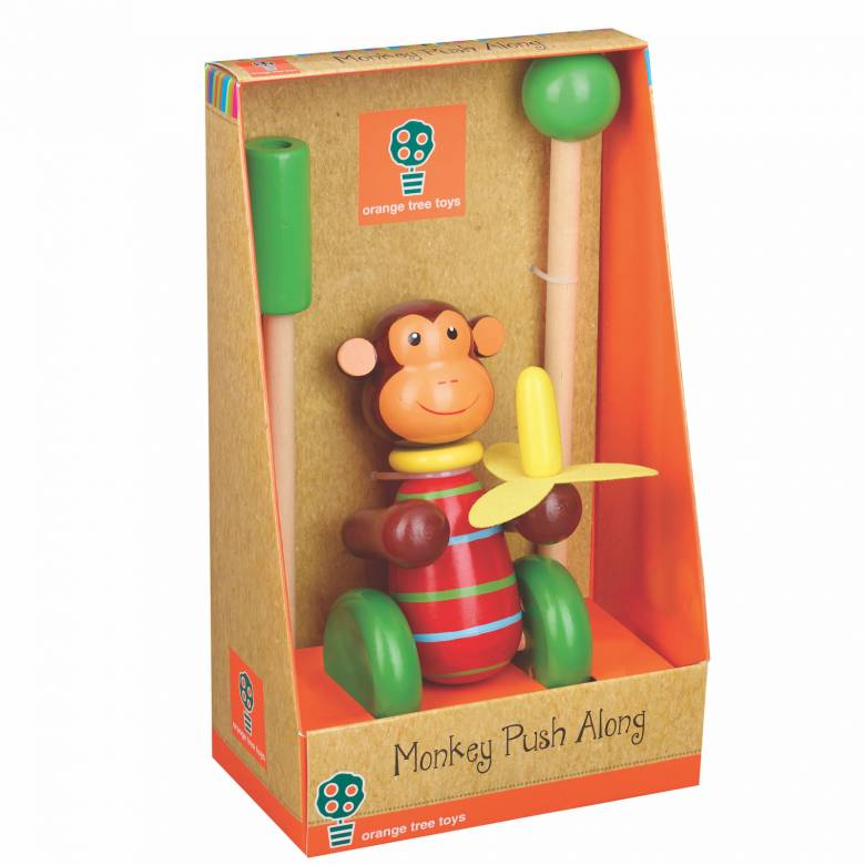 Monkey Push Along Toy By Orange Tree 12mth+