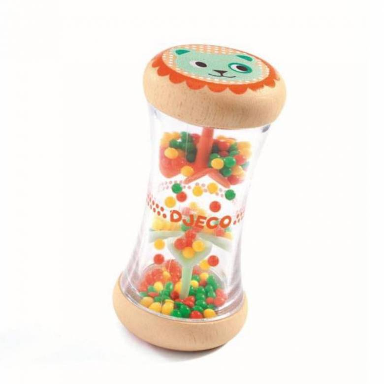 BabyPlui Colourful Wooden Rattle By Djeco 0+