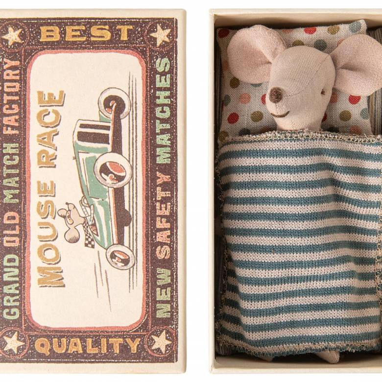 Big Brother Mouse In Match Box By Maileg
