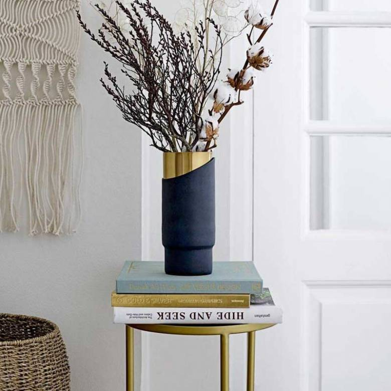 Brass Metal Side Table / Planterstand