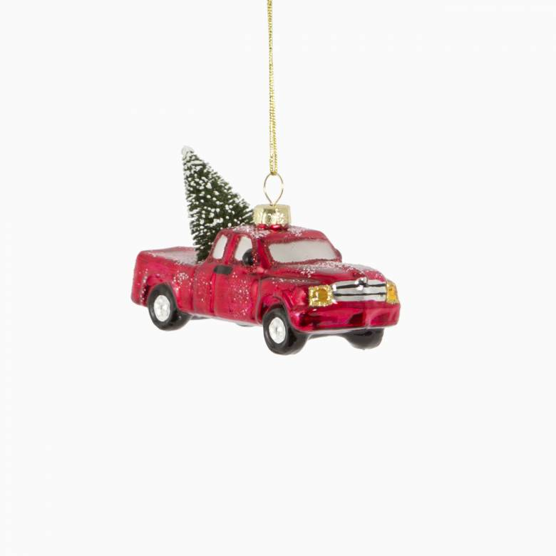 Christmas Tree In Car Glass Christmas Decoration