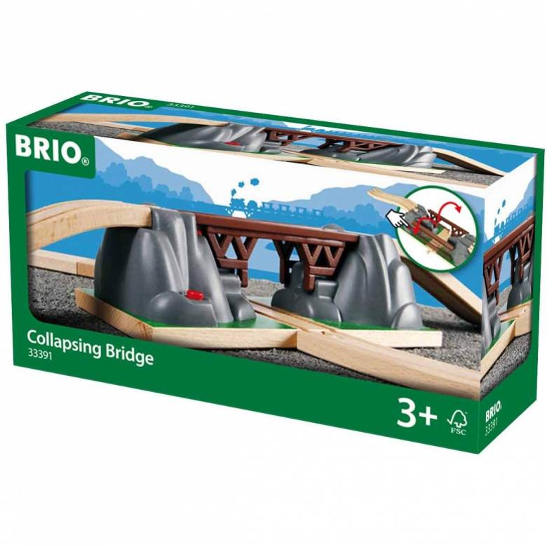Collapsing Bridge for Railway BRIO Wooden Railway 3+