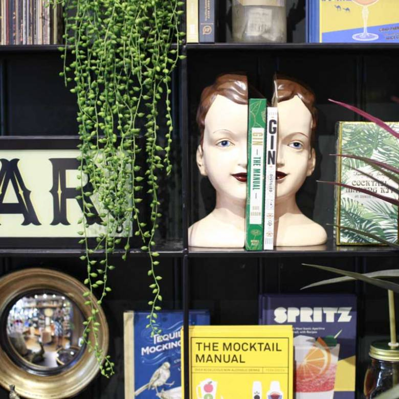 Deco Style Head Bookends