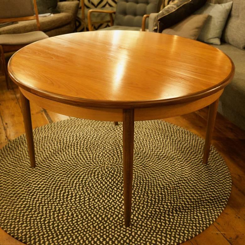 G Plan Fresco Circular Extending Dining Table