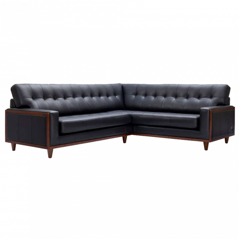 G Plan Vintage The Fifty Nine Right Hand Corner Leather Sofa