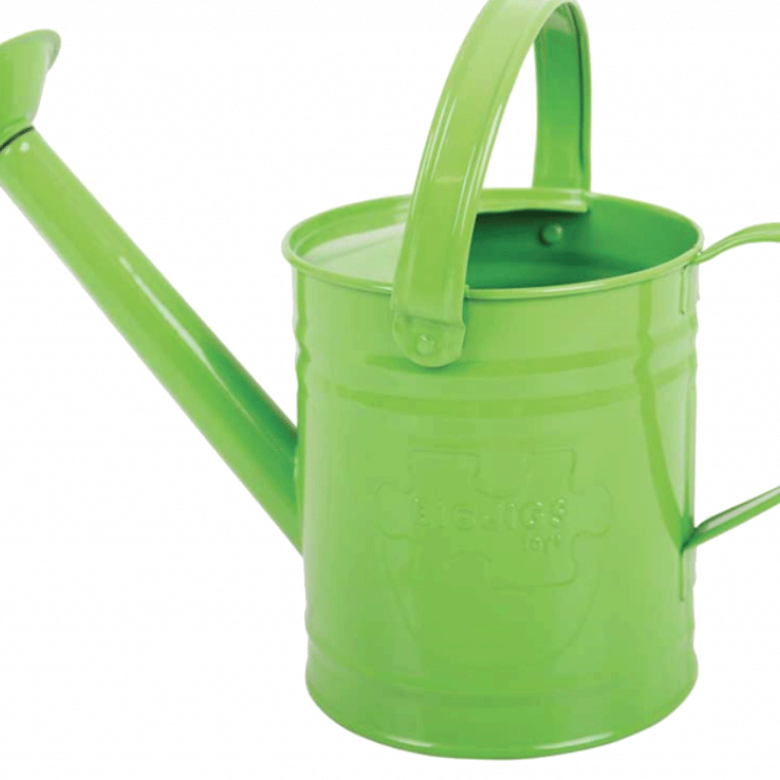 Green Metal Watering Can 3yrs+