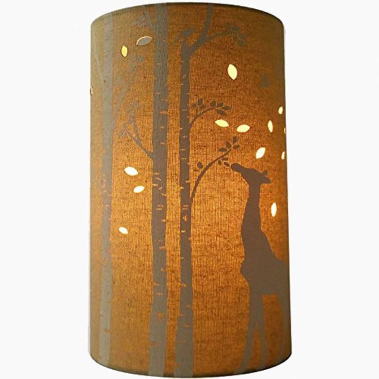 Giraffe - Cylindrical Fabric Lamp