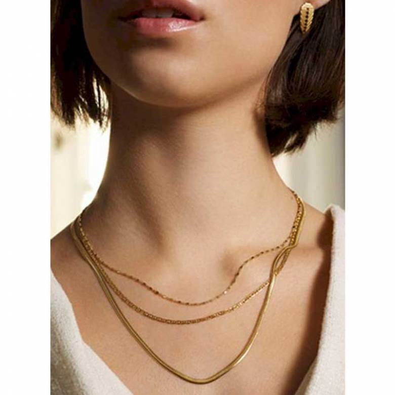Gold Elinor Necklace By Pernille Corydon