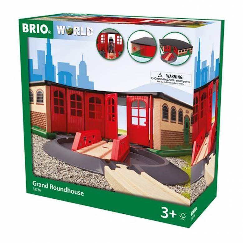 Grand Roundhouse BRIO Wooden Railway Age 3+