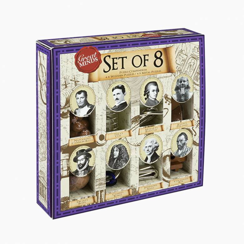 Great Minds Set Of 8 Wooden Puzzles