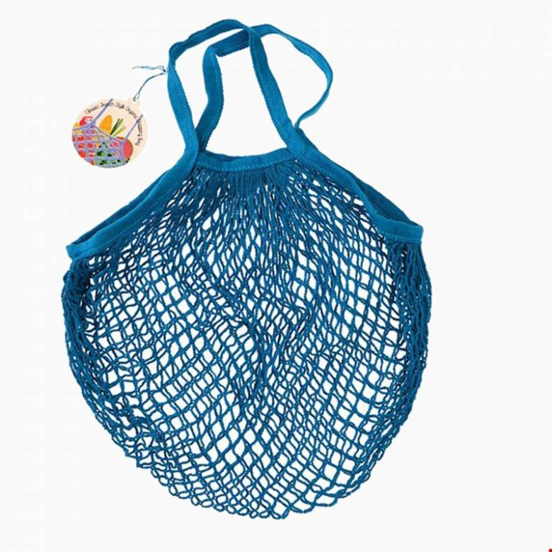 Greek Blue String Shopping Bag