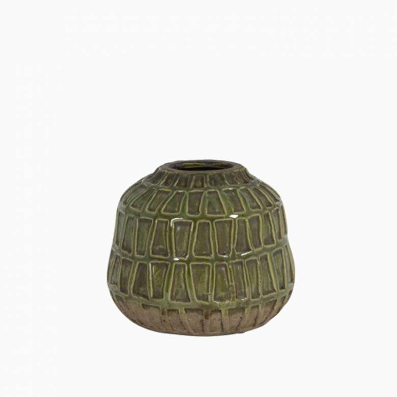 Green Deco Vase 20x17cm