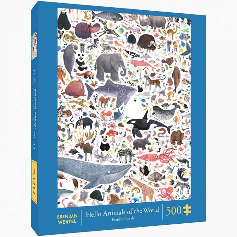 Hello Animals Of The World - 500 Piece Jigsaw Puzzle