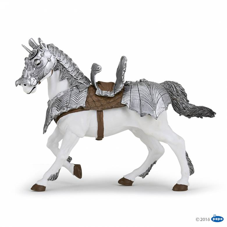 Horse In Armour - Papo Knight Figure