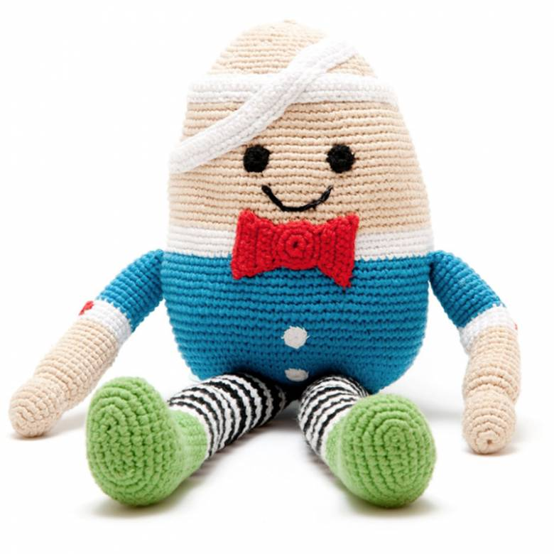 Crochet Humpty Dumpty Rattle Soft Toy Fairtrade 0+