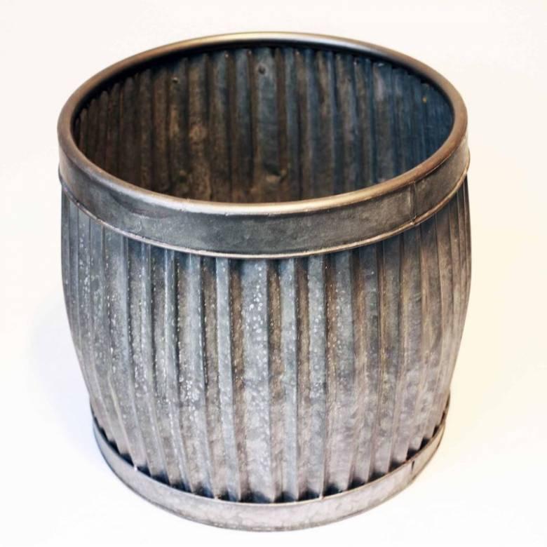 Large Metal Dolly Tub Planter H: 41cm