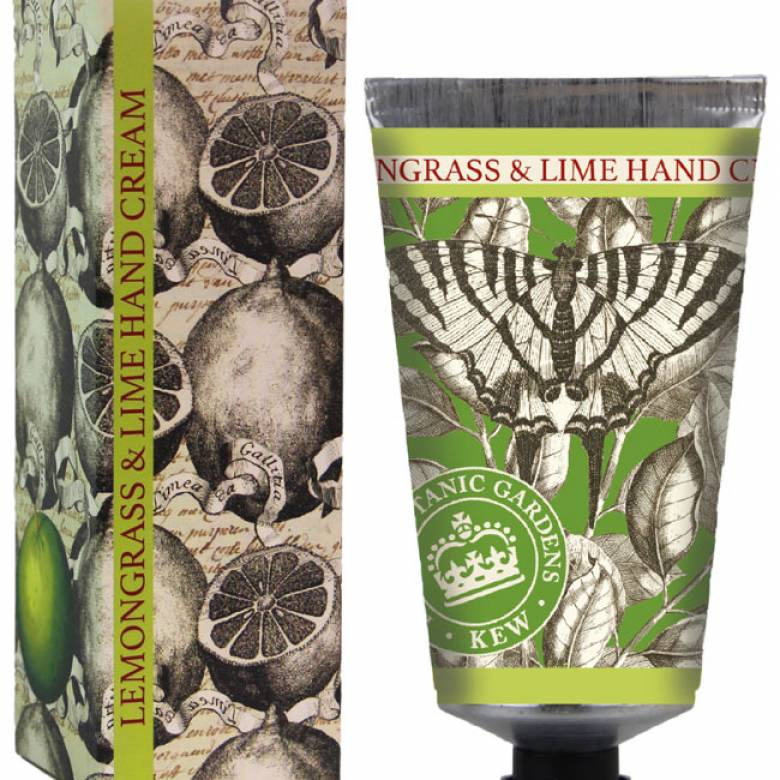 Kew Gardens 75ml Hand Cream Lemongrass & Lime