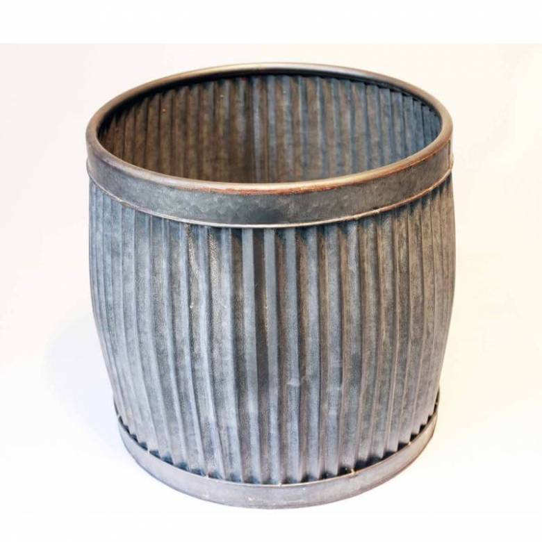 Medium Metal Dolly Tub Planter H: 35cm