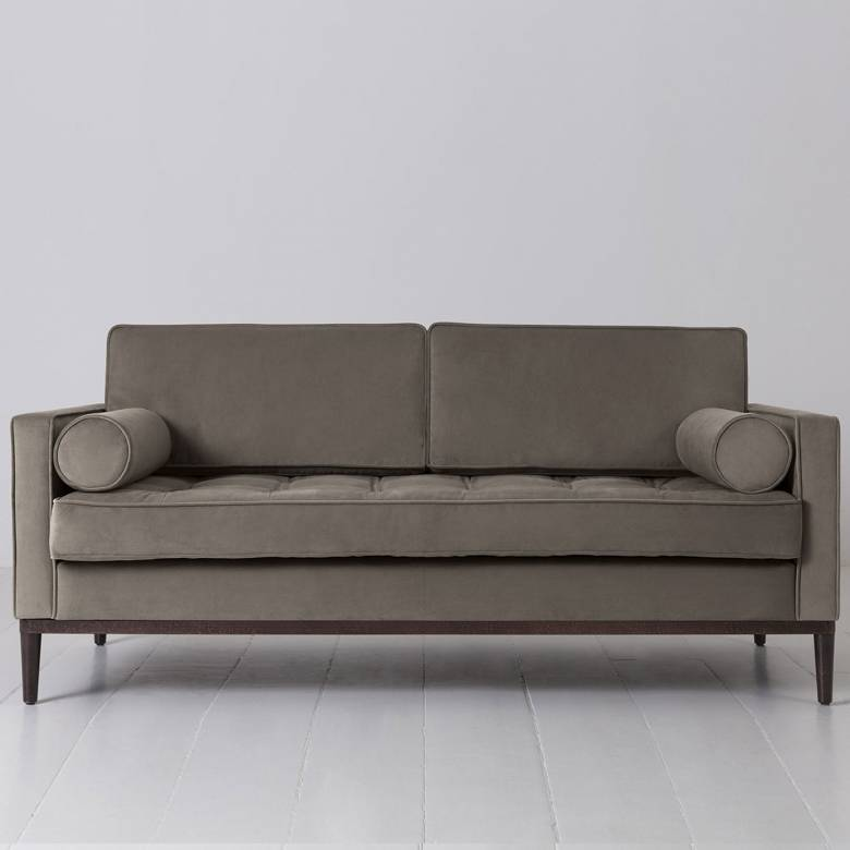 Swyft - Model 02 Velvet 2 Seater Sofa - Elephant