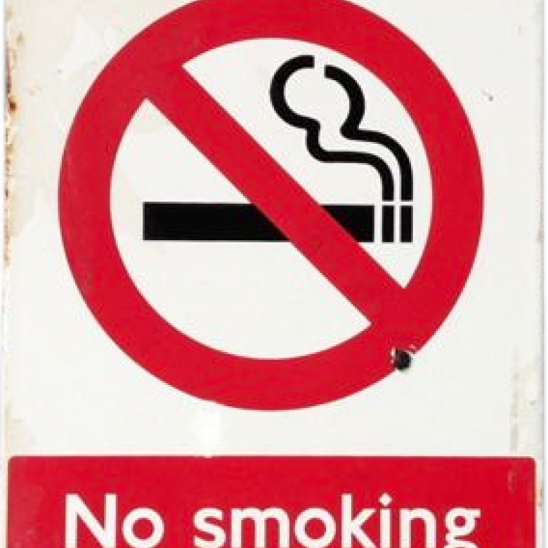 No Smoking Sign - Vintage from London Underground's Tube System