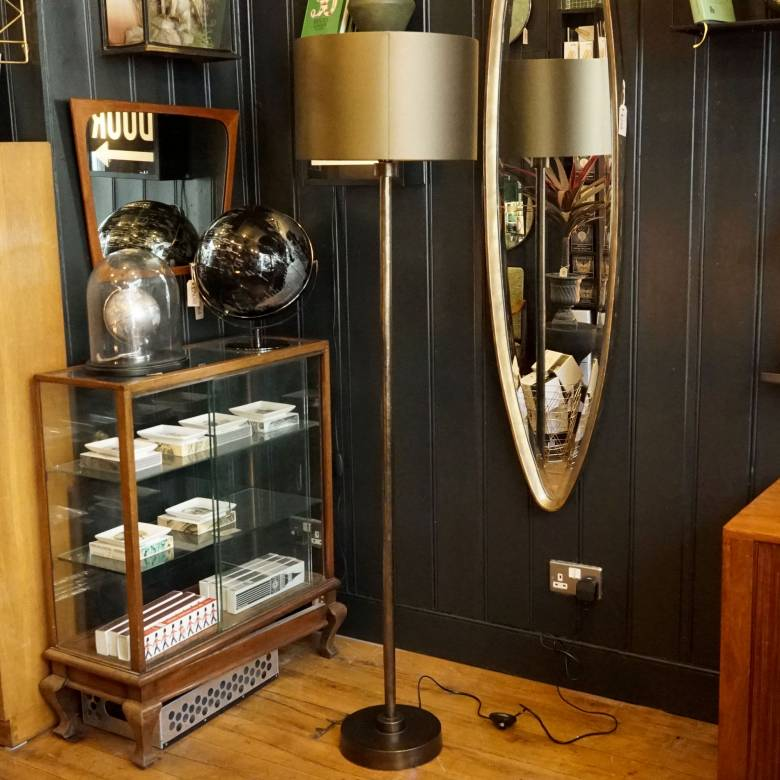 Novi Bronze Floor Lamp With Forest Green Shade