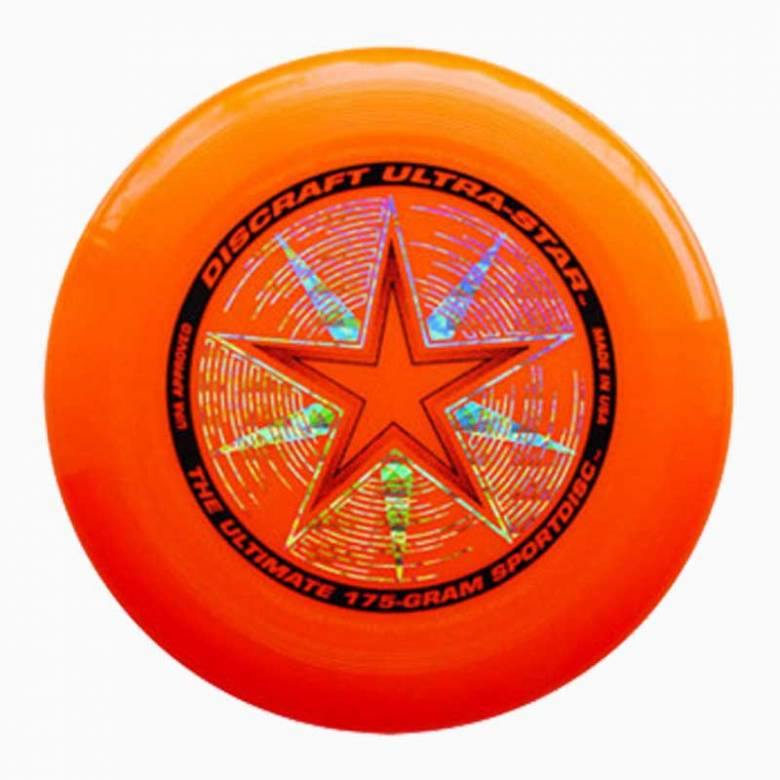 Orange Discraft Ultra Star Frisbee