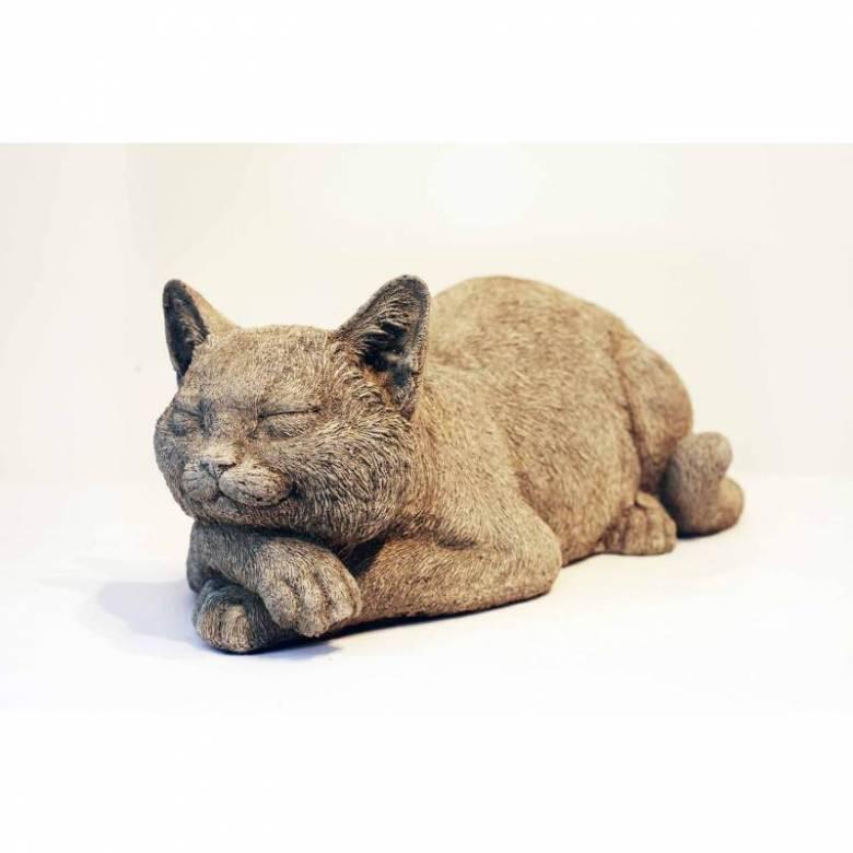 Resting Cat Garden Ornament