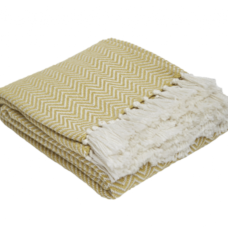Gooseberry Herringbone Blanket From Recycled Bottles