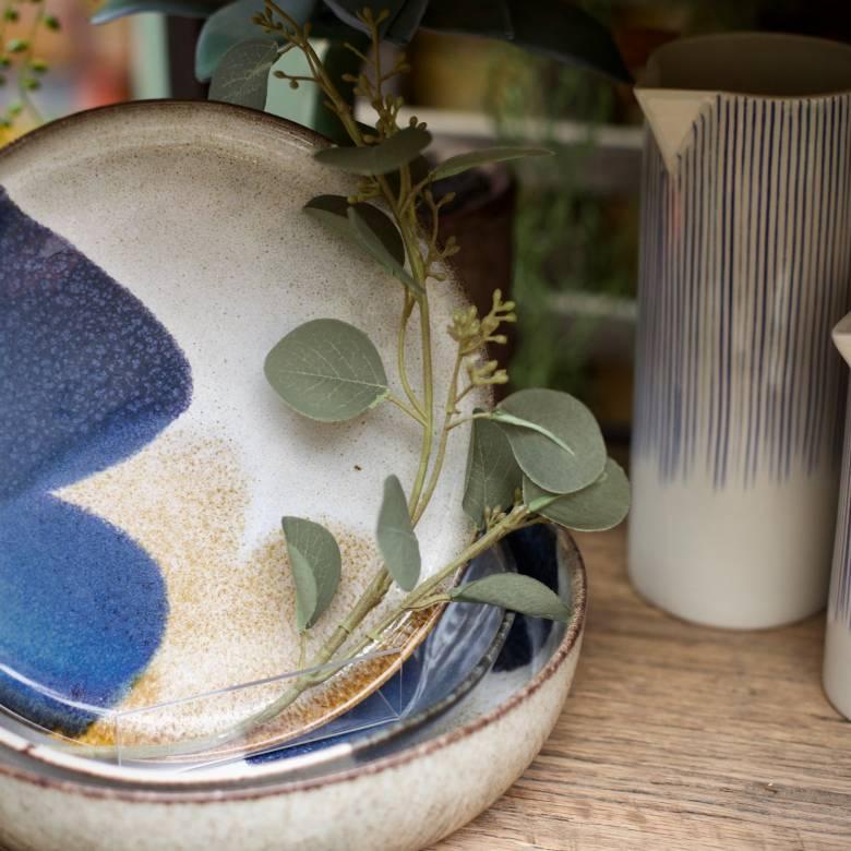 Small Karuma Ceramic Jug Blue & White