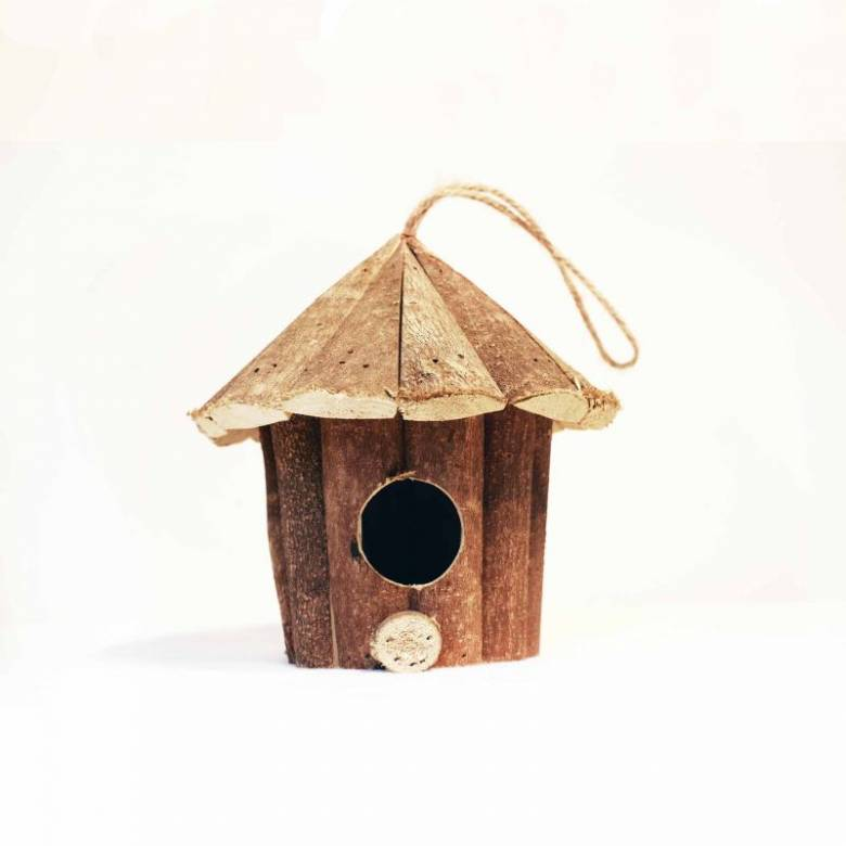 Small Wooden Hanging Birdhouse