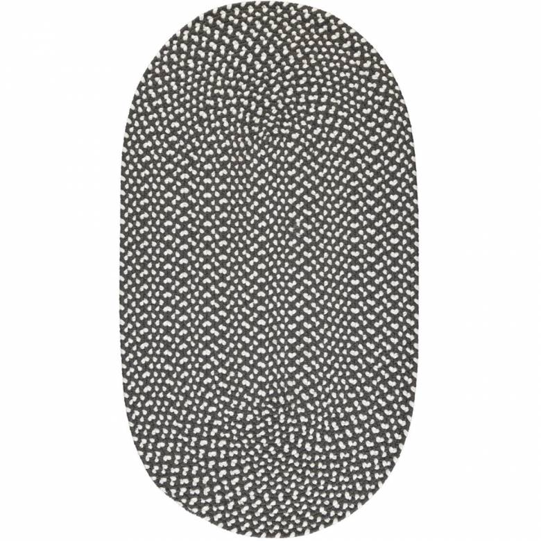 Soot Oval Braided Rug Recycled Plastic 61X183cm