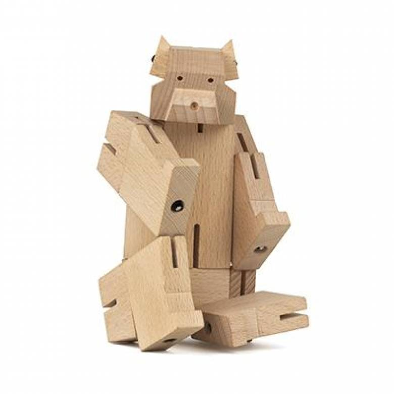 Square Bear Cub Wooden Puzzle