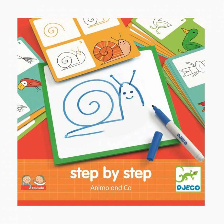 Step By Step Animo And Co Colouring Set By Djeco 4+