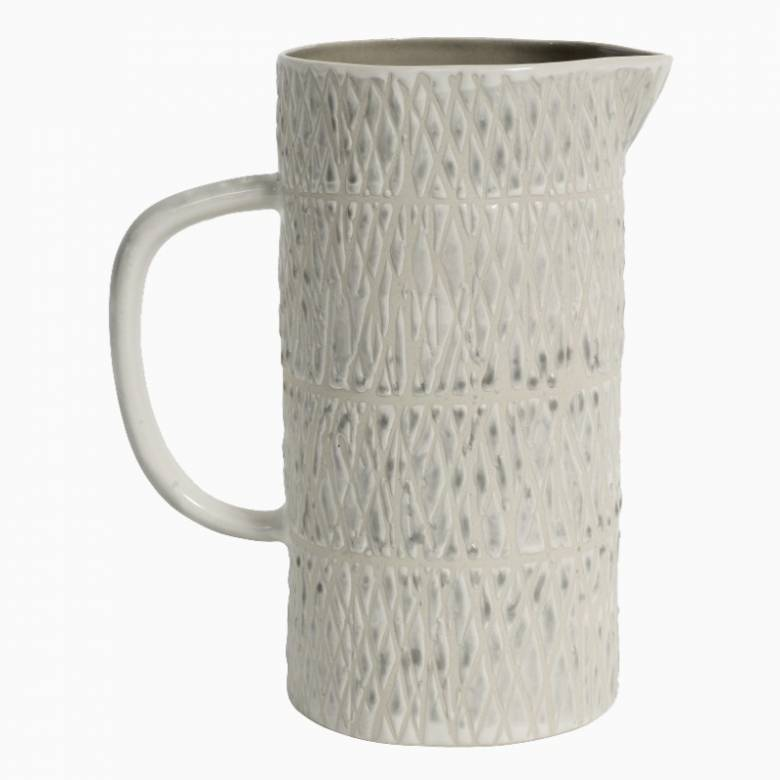 Tall Jug With Diamond Pattern H:20cm