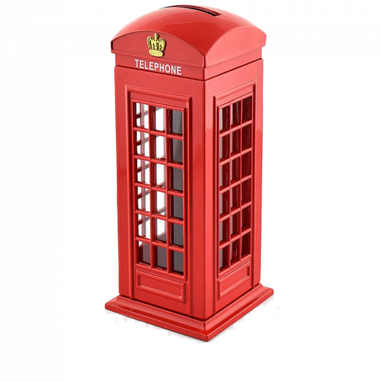 Telephone Phone Box Money Box Piggy Bank