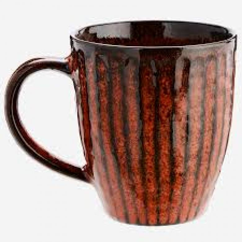 Deep Orange Stoneware Mug
