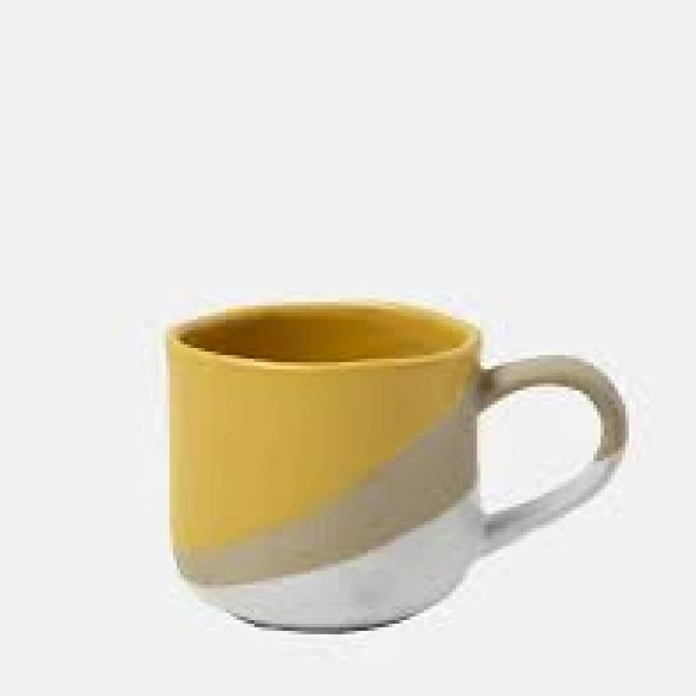 Spice Route Stoneware Mug Mustard