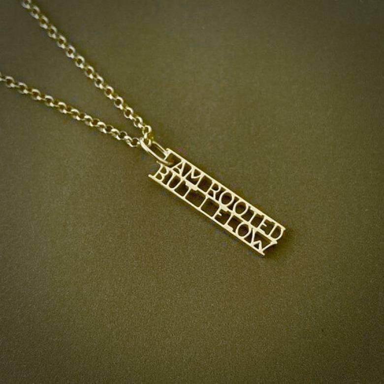 Virginia Woolf - Rooted Gold Quote Necklace By Ordbord