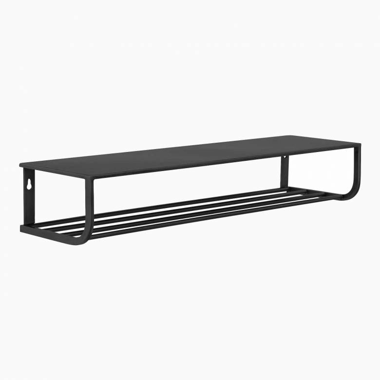 Wall mounted Black painted metal Shelf