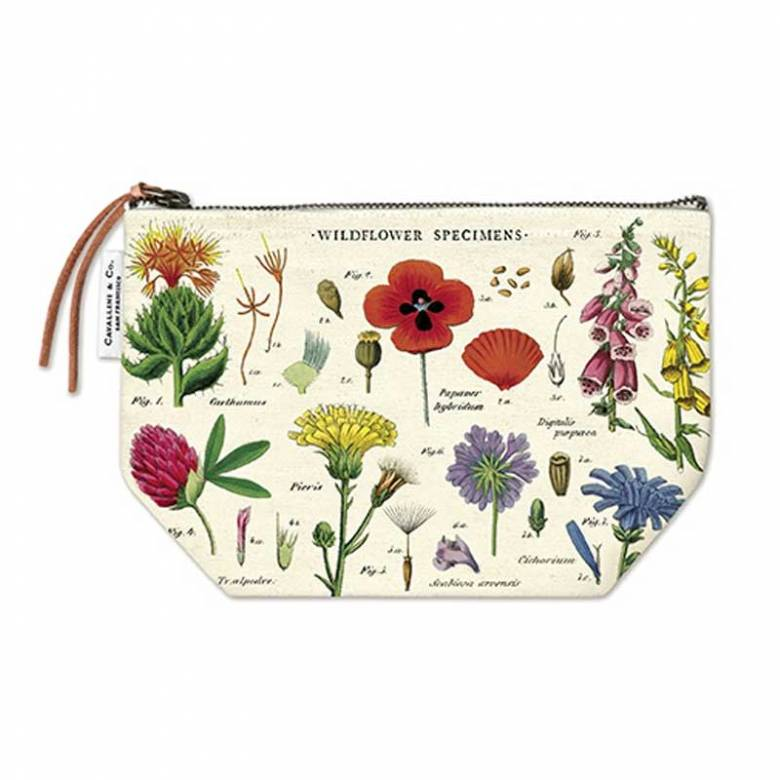 Wildflowers Cotton Pouch Bag By Cavallini