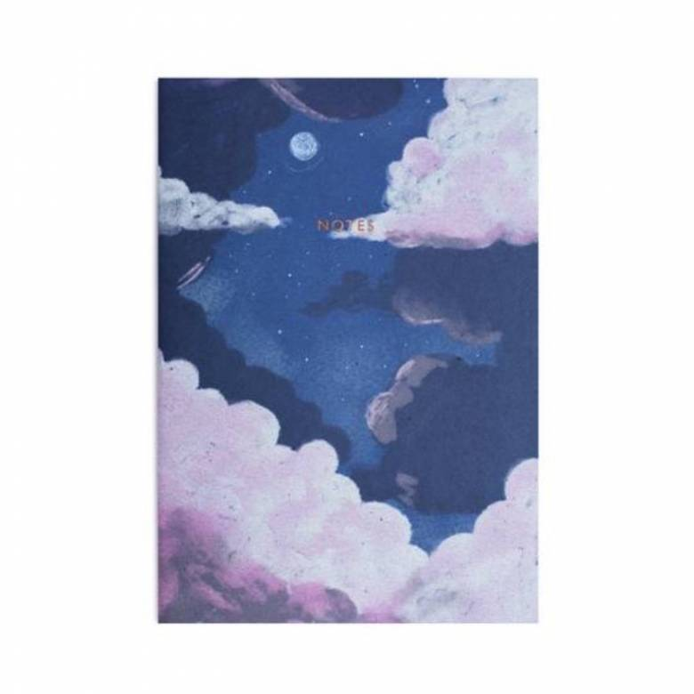 A4 Lilac Dusk Lined Notebook