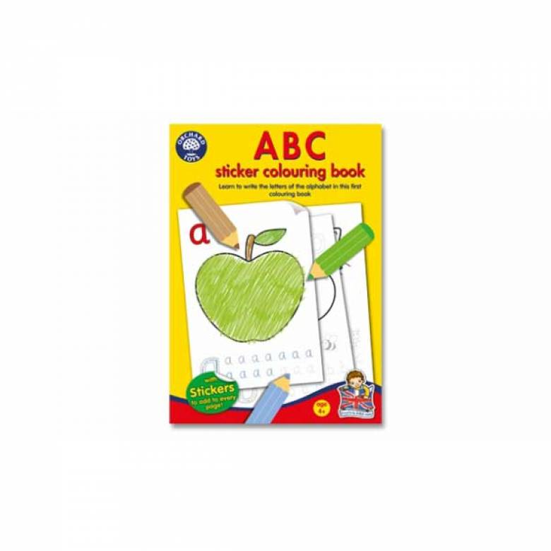 ABC Sticker Colouring Book By Orchard