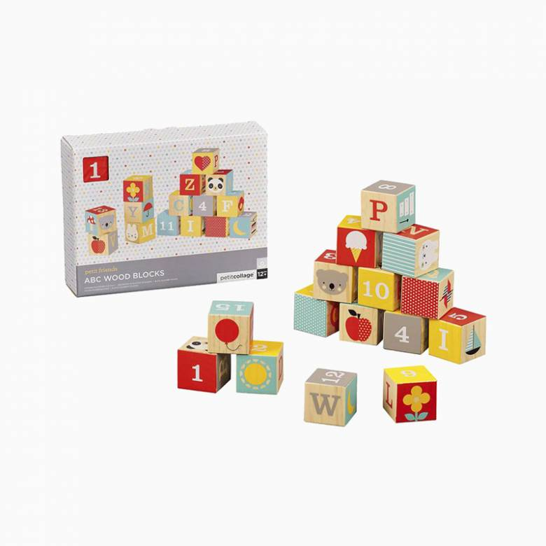 ABC Wooden Blocks By Petit Collage 1+