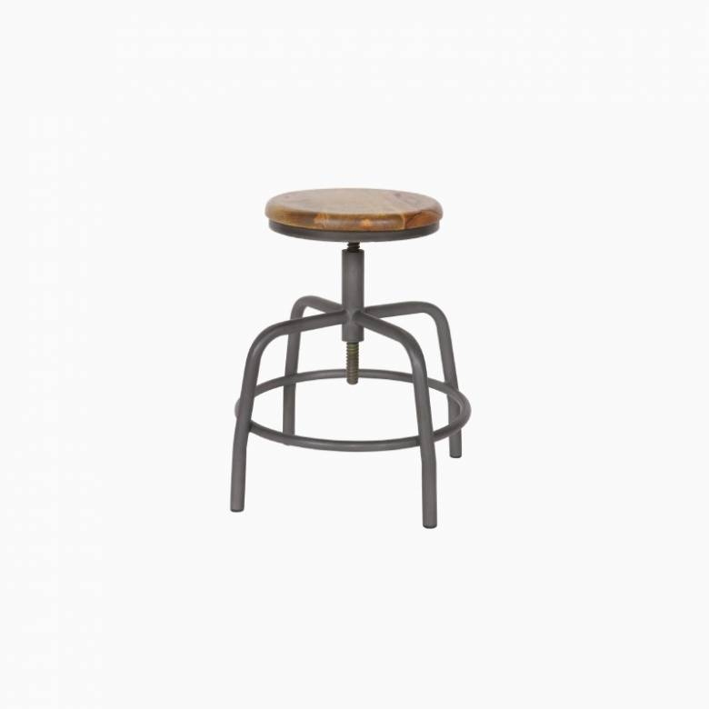 Adjustable Spider Stool In Wood And Metal