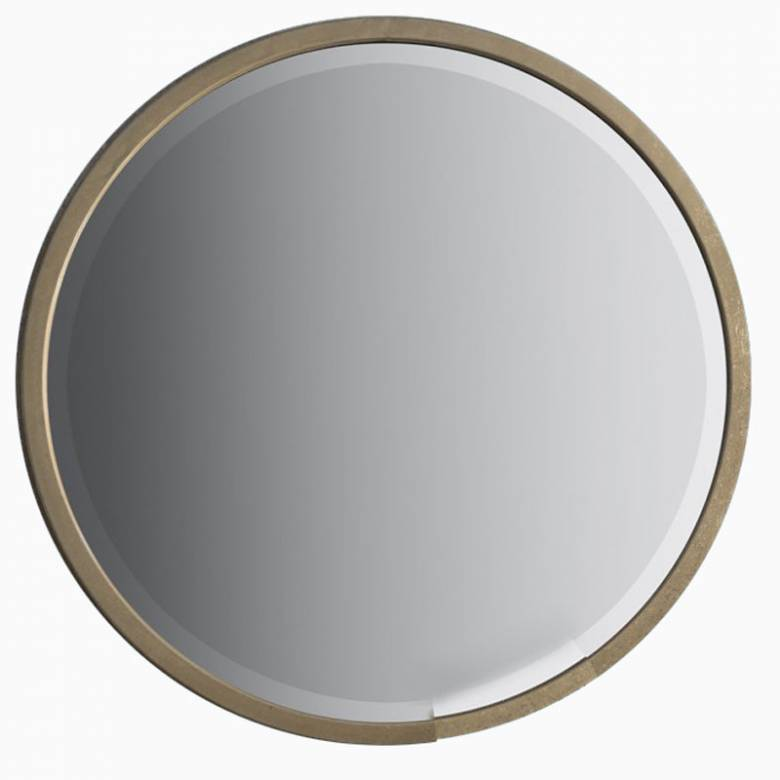 Alex Round Mirror Antiqued Gold Finish 80cm