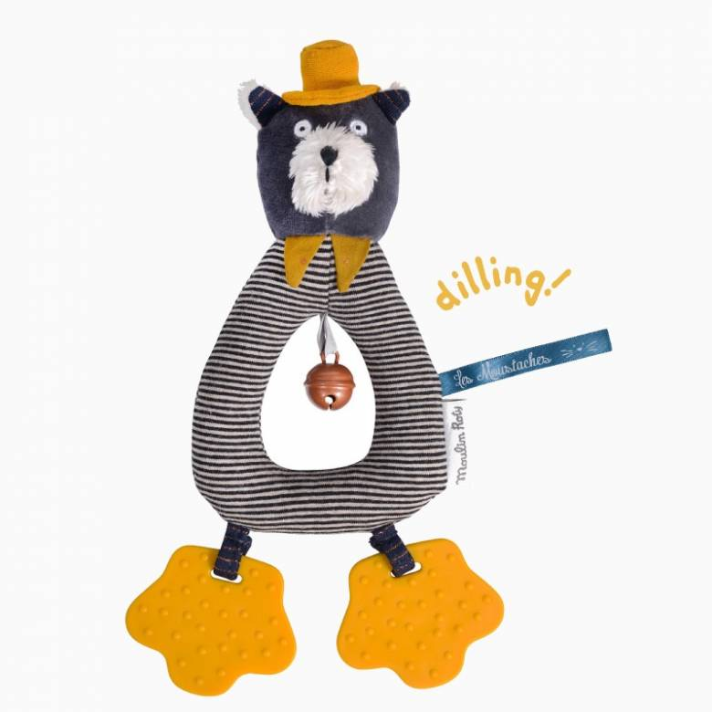 Alphonse The Cat Ring Rattle Soft Toy Les Moustaches 0+
