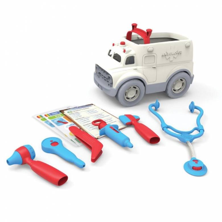 Ambulance & Doctor's Kit By Green Toys 2+