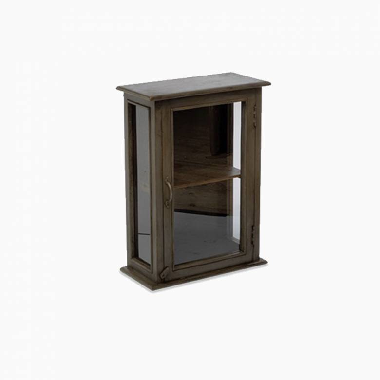 Amiri Wood And Metal Wall Cabinet