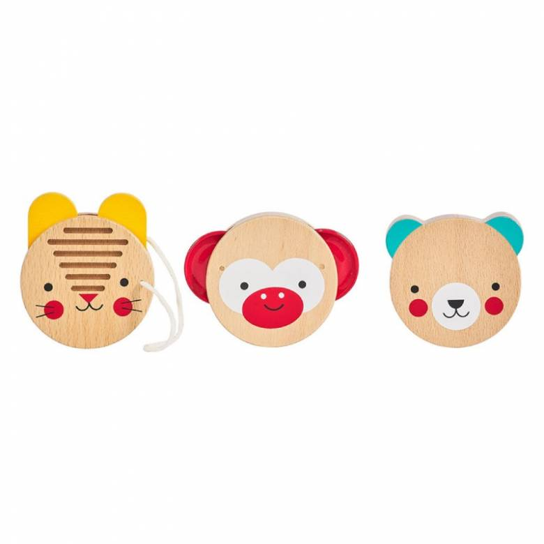 Animal Friends Wooden Percussion Instruments Set 1+
