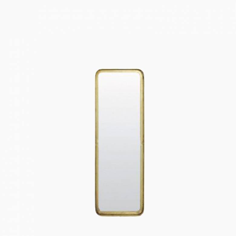 Gold Rectangular Annis Mirror 20x4.5x60cm